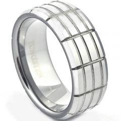 COI Titanium Tire Tread Dome Court Ring-JT871A
