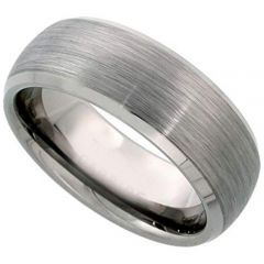 COI Tungsten Carbide Dome Court Beveled Edges Ring-TG1357