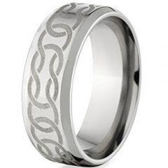 COI Tungsten Carbide Celtic Beveled Edges Ring - TG148BB