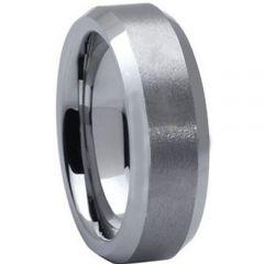 COI Tungsten Carbide Beveled Edges Ring - TG1638