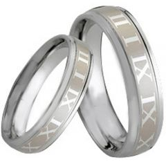 COI Tungsten Carbide Ring With Roman Numerals-TG164