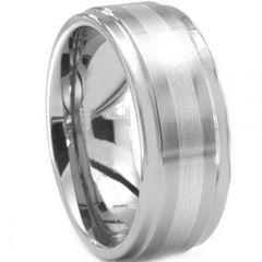COI Titanium Step Edges Center Line Ring - JT171