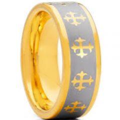 COI Tungsten Carbide Cross Pipe Cut Flat Ring-TG1825