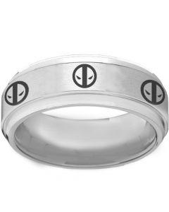 COI Tungsten Carbide DeadPool Step Edges Ring-TG2261