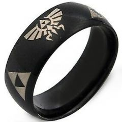 COI Black Tungsten Carbide Legend of Zelda Ring-TG2376