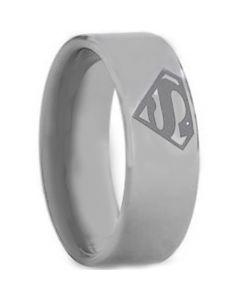 COI Tungsten Carbide SuperMan Pipe Cut Flat Ring-.TG1458