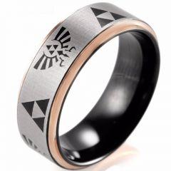 COI Tungsten Carbide Black Rose Legend of Zelda Ring-TG2410