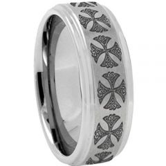 COI Titanium Cross Step Edges Ring-2419