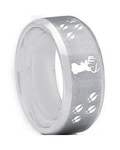 COI Tungsten Carbide Deer Head & Tracks Ring-TG2445