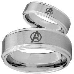 COI Tungsten Carbide Marvel Avengers Step Edges Ring-2740