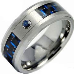 COI Tungsten Carbide Carbon Fiber & Zirconia Ring-TG3087