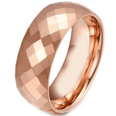 COI Rose Tungsten Carbide Faceted Ring-TG281