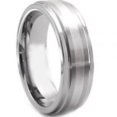 COI Tungsten Carbide Step Edges Ring-TG2858