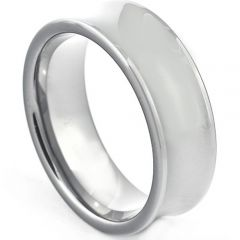 COI Titanium Concave Wedding Band Ring - JT264