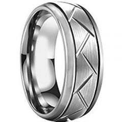 COI Titanium Tire Tread Double Grooves Ring-JT1687AA