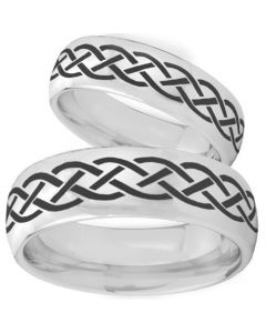 COI Tungsten Carbide Celtic Dome Court Ring-TG3096