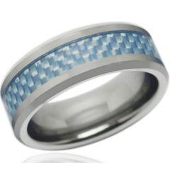 COI Titanium Beveled Edges Ring With Carbon Fiber-JT1657A