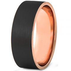 COI Titanium Black Rose Pipe Cut Flat Ring-3533