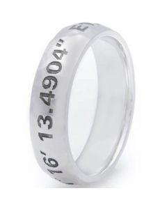 COI Tungsten Carbide Custom Co-ordinate Dome Ring-TG3605