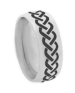 COI Tungsten Carbide Celtic Dome Court Ring - TG3644A