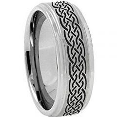 COI Titanium Celtic Step Edges Ring-3654
