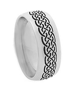 COI Tungsten Carbide Celtic Dome Court Ring-TG3655