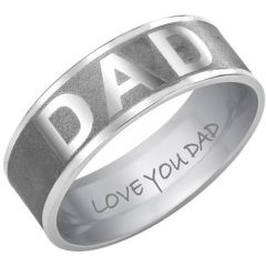 COI Tungsten Carbide Double Grooves Daddy Ring-TG3660