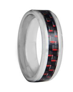 COI Titanium Beveled Edges Ring With Carbon Fiber-4122