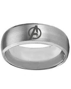 COI Tungsten Carbide Marvel Avengers Beveled Edges Ring-TG392