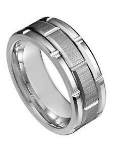COI Tungsten Carbide Brick Pattern Ring - TG3935