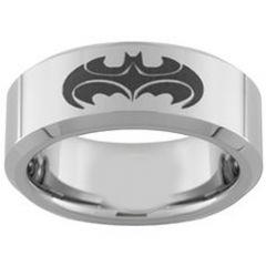 COI Tungsten Carbide Batman & Robin Pipe Cut Flat Ring-TG3957
