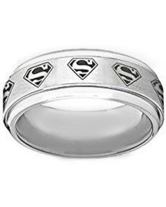 COI Tungsten Carbide SuperMan Step Edges Ring-TG1295AA
