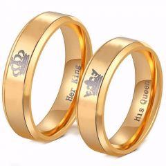COI Tungsten Carbide King Queen Crown Ring-TG4056