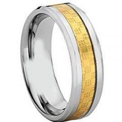COI Tungsten Carbide Carbon Fiber Beveled Edges Ring-TG4202