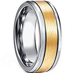 COI Tungsten Carbide Double Grooves Ring-TG4605AA