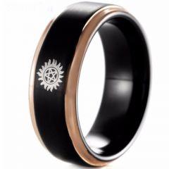 COI Tungsten Carbide Black Rose Supernatural Ring-TG4645