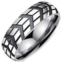 COI Titanium Tire Tread Grooves Ring-5343