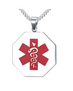 COI Titanium Medic Alert Pendant-5525
