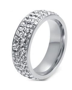 COI Titanium Ring With Cubic Zirconia-5543