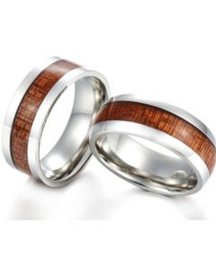 COI Tungsten Carbide Wood Pipe Cut Flat Ring-TG5769