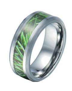 COI Tungsten Carbide Camo Beveled Edges Ring-TG5784