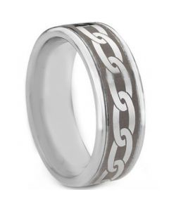 COI Tungsten Carbide Celtic Step Edges Ring-TG763AA