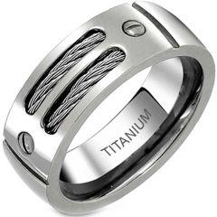 COI Titanium Cable Ring With Screws-JT2781