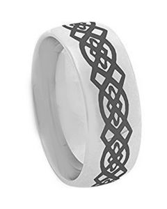 COI Tungsten Carbide Celtic Dome Court Ring-TG3113
