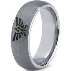 COI Titanium Legend of Zelda Dome Court Ring-JT5062