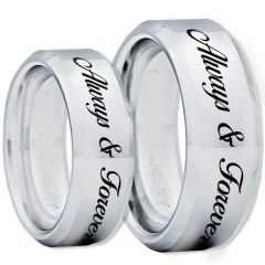 COI Tungsten Carbide Always & Forever Ring-TG1307