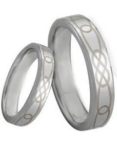 COI Tungsten Carbide Celtic Pipe Cut Flat Ring-TG171