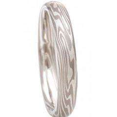 COI Tungsten Carbide Damascus Dome Court Ring-TG2018