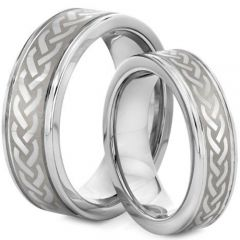 COI Tungsten Carbide Celtic Step Edges Ring-TG2127
