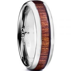 COI Tungsten Carbide Wood Dome Court Ring-TG2598